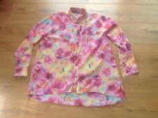 Ladies Long Sleeved Pink Floral Patterned Blouse Size 10 Atmosphere new With Tag