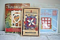 3 Quilt Craft Kits -  Bear Nursery Quilt Squares & 2 Quilt Wallhanging Projects