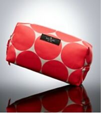 NEW KATE SPADE 100% AUTHENTIC COSMETIC TRAVEL POUCH CASE ORANGE DOT DESIGN