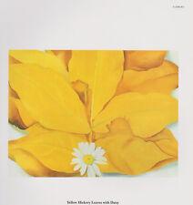 "Georgia O'Keeffe,""Yellow Hickory Leaves with Daisy"" Botanical,-Flower- Art Print"