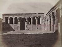 Egitto Edfu Foto Albumina IN Piccolo Formato 10x13cm Ca 1880