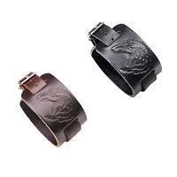 Cool Punk Men Genuine Leather Belt Charm Wide Bracelet Bangle Fashion Jewelry