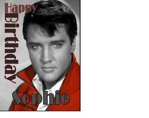PERSONALISED Elvis Presley The King Of Rock & Roll A5 Birthday Card ANY NAME AGE