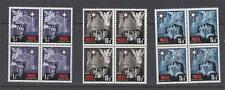 MALTA, 1970 Christmas set of 3, blocks of 4, mnh.