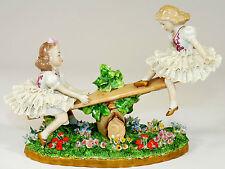 SITZENDORF - Figur PORZELLANFIGUR - Wippende Kinder - Figurengruppe - Thüringen