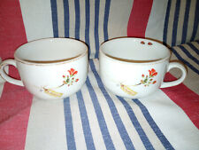 2 x Jet by Ter Steege Extra Large Cups ~ Geranium and Ladybird Design