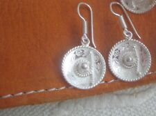 Mexican Sombrero Silver Earrings with french hoop
