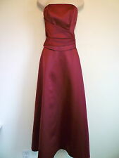 Womens S 4 wine purple strapless long cocktail formal prom homecoming dress