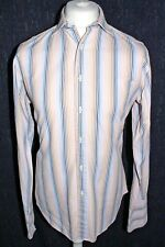 "T.M.LEWIN Men's Semi Fitted Double Cuff Multi Striped Shirt Size 16"" 41-90cm"