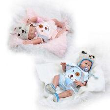 """20"""" Muñeca bebé recién nacido realista Reborn Completo Niño Baño de Muñecas de silicona + Gemelos de chica"""