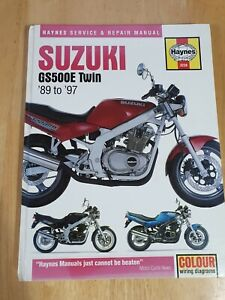 Haynes manual Suzuki GS 500E Twin 89 to 97
