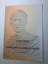 2020 Poste Italiane Folder Filatelico UICI - 100 Anni accanto ai ciechi