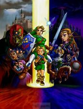 Poster A3 The Legend Of Zelda Ocarina Of Time Sheik Link 02
