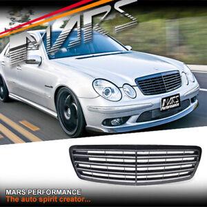 Gloss Black E55 Style Bumper Grill Grille for Mercedes-Benz E-Class W211 2003-06
