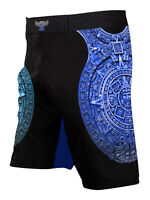 Raven Fightwear Men's Aztec Ranked BJJ MMA Shorts Blue