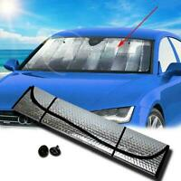 Car Windshield Reflective Shade For Auto Cover Visor Wind Shield+2pc Suctio L5F2