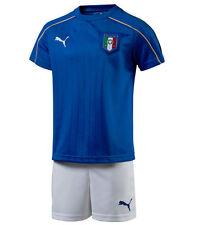 Puma ITALIA BOYS CALCIO KIT DI 3-4 ANNI NUOVA Camicia + shorts 2015-2016