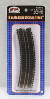 "Atlas N Code 80 Snap-Track Nickel Silver 9.75"" Radius Curve, Item #2510, 6 pcs."