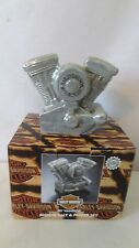 Harley Davidson 1998 Motorcycle Engine Salt and Pepper Shakers MIB #J95.