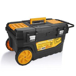 WrightFits Mobile Tool Box Chest On Wheels -Rolling Tool Storage Box -WW4024150