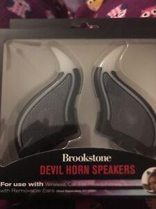 Brookstone Devil Horn Speakers For Cat Headphones