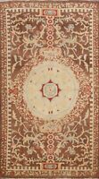 Floral Traditional Oushak Egyptian Oriental Area Rug Brown Wool Hand-knotted 5x8