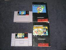 Super Mario World & All Stars + Manuals (Black Label) for SNES.N-MINT!Nintendo!