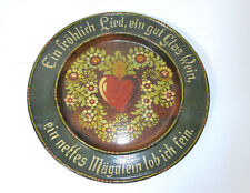 Wall Plate 19 Jh Alpine Hand Painted