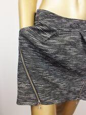 WITCHERY MINI STRAIGHT SKIRT ZIPPER BLACK DRESS SKIRT  - SIZE 10