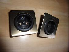 GIRA S-Komfort-Programm 2x Steckdosenabdeckung 551 braun/bronze - Set E -