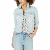 STYLE & CO NEW Women's Striped Denim Jacket Top TEDO