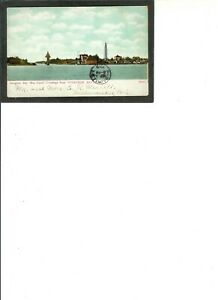 "WISCONSIN Vintage PC ""Ship Canal, Sturgeon Bay"" pmk 9-5-1912 to Milwaukee, WI"