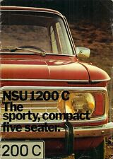 NSU 1200 C 1971-72 UK Market Sales Brochure