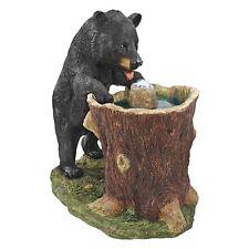 KY2093 - Guzzling Gulp Black Bear Garden Fountain w/Pump & LED Light Kit!