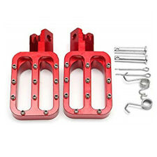 Red CNC Motocorss Pit Bike Foot Peg Rest Footpegs For Honda Suzuki Yamaha KTM 2x