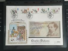 GB 1993 Charles Dickens Limited Edition £10 Banknote FDC. Mercury Silk Cover.