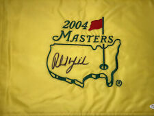 PHIL MICKELSON Signed Authentic 2004 Masters Flag COA- JSA Full Letter