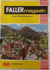Faller AMS ---  Faller Magazin 66, September 1968, Sprache Niederländisch