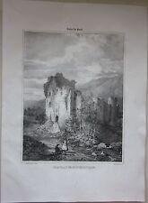1838 CHATEAU DE MONTMORILLON Arfeuilles lito Louis Tudot Allier Desrosiers Vichy