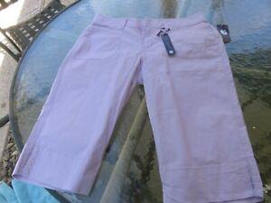 Gloria Vanderbilt Women's Skimmer Lavender Lilic color cotton Jean Capri 14 P