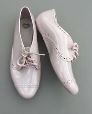Melissa Mel Brogue Shoe 5 38 Nude Blush Pink Oxford Lace Up Summer Blogger