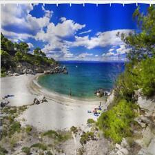 Bahía de playa aislada Cove Arena & Sea Baño Cortina De Ducha Poliéster