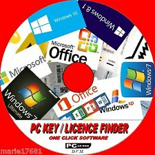REVEAL YOUR PC SOFTWARE LICENCE KEYS WINDOWS VISTA XP 7 8 10 + ALL OFFICE NEW CD