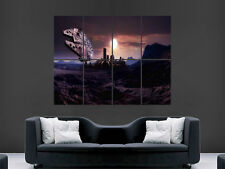 STAR WARS POSTER MILLENNIUM FALCON WALL PLANET CITY ART PICTURE PRINT LARGE