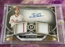 2021 Topps Museum Zack Wheeler Signature Swatches Dual Relic Auto /249 Phillies
