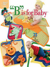 B is for Baby Crochet Patterns Hoodie Bunting Toys Layettes Annies Attic NEW