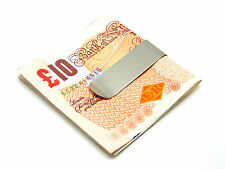 Mens Stainless Steel Metal Silver Money Cash Note Holder Clip Gift Wallet E16