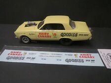 Hairy Canary 66' Valiant AWB 1/25 Decal from Fremont Racing Specialties