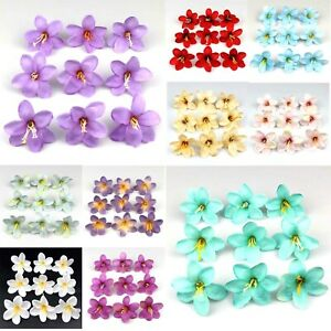 100xArtificial Faux Silk Rose Lily Flower Heads Bulk Wedding Home Decor 10 Color