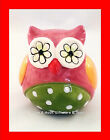Ceramic Colourful Owl Ornament Statue Figurine 7cm Baby Nursery child